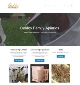 Oakley Family Apiaries Website